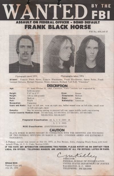Frank Black Horse Wanted Poster [1975]