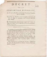 DÉCRET DE LA CONVENTION NATIONALE, DU 18e. JOUR DE PLUVIÔSE, AN SECOND DE LA RÉPUBLIQUE FRANÇAISE, UNE & INDIVISIBLE. QUI NOMME LES MEMBRES DE LA COMMISSION TEMPORAIRE DES ARTS, & DESIGNE LES INVENTAIRES DONT ILS SERONT RESPECTIVEMENT CHARGÉS