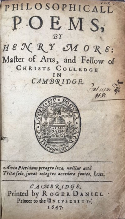 Cambridge: Printed by Roger Daniel, Printer to the University, 1647. First Edition, First Issue. 12m...