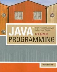 image of Java Programming : From Problem Analysis to Program Design