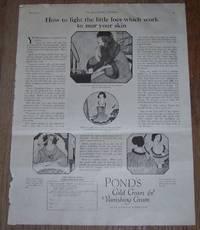 1921 LADIES HOME JOURNAL POND'S COLD CREAM AND VANISHING CREAM MAGAZINE  ADVERTISEMENT