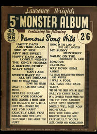 image of Lawrence Wright's 5th Monster Album   Containing 43 Famous Songs Hits [Vintage Piano Sheet Music] Every Song Complete with Ukulele Line as Well as Piano and Tonic Sol-Fa