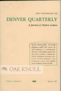 N.P. (but Denver): (University of Denver), 1967. stiff paper wrappers. Swallow, Alan. 8vo. stiff pap...