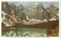 Canada – Moraine Lake and Valley of the Ten Peaks, Alberta, Canada 1952 used Postcard