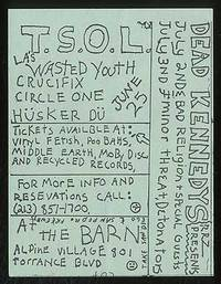 [Punk Flyer]: T.S.O.L. and Dead Kennedys at the Barn