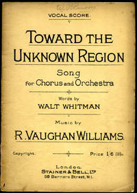 image of Toward the Unknown Region   Song for Chorus and Orchestra (Vocal Score) [Vintage Sheet Music] (Music Publisher's Reference Number 1962)