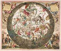 [The Northern Celestial Hemisphere, with the Terrestrial Hemisphere beneath] Hæmisphærium stellatum boreale cum subiecto hæmisphærio terrestri