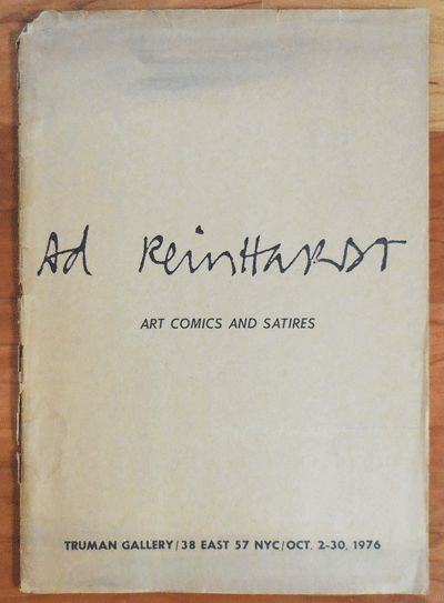 New York: Truman Gallery, 1976. First edition. Paperback. Very Good. First edition. Folio. 27 pp. Ca...