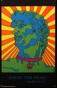 """David, The Head""  Neon Blacklight Poster, 1970 by Calan - 1970"