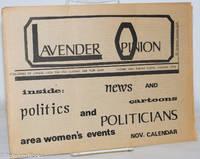 image of Lavender Opinion: vol. 1, #8, October [may be November] 1974: Politics & Politicians