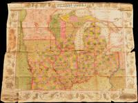1849 POCKET TRAVEL MAP --