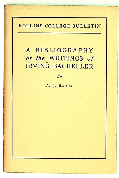 Winter Park FL: Rollins College, 1939. Softcover. Very Good. Softcover. Bacheller was a journalist, ...