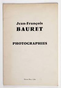 Jean-François Bauret : Photographies. Exposition de l'A.R.C. (Animation - Recherche - Confrontation) au Musée d'art modene de la Ville de Paris, 30 septembre - 1er novembre 1971.