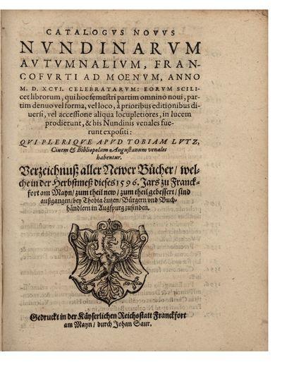 Catalogus Novus nundinarum...