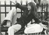 image of Original photograph of Jane Birkin on a motorcycle, circa 1970s