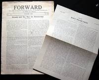 Forward Dedicated to Greater Popular Control of Politics and Industry at Home and Abroad Vo. 3 No. 1. January, 1919