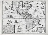 Carte de l'Amerique corrigee et augmentee dessus Toutes les aultres cy devant faictes par P. Bertius