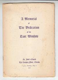 A Memorial of the Dedication of the East Window