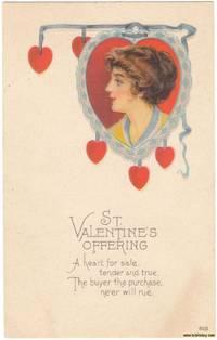 image of A Nice Original Vintage 1915 Unused St. Valentine's Day Postcard