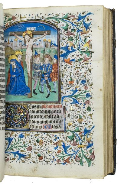 [Illuminated book of hours, with the...