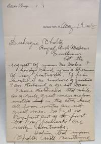 "Autographed Letter Signed (A.L.S.), ""Elisha Gray"