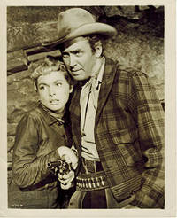"""James Stewart, Janet Leigh, and Robert Ryan in """"The Naked Spur."""" 4 vintage photographs"""