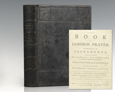 London: Printed for J. Pottinger, 1761. Scarce 18th century Book of Common Prayer printed by the Rev...