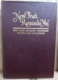 Now That Reminds Me:  Wit and Humor Indexed