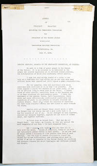 Address of President Roosevelt Accepting the Democratic Nomination for President of the United States