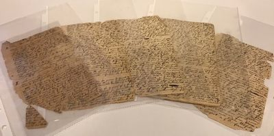 Hand sewn paper, 16 x 9.5 cm., 24 pp., approx. 8000 words, in a closely written but legible hand. Pa...