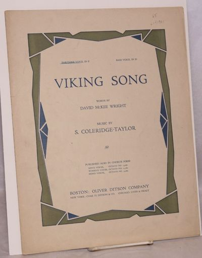 Boston: Oliver Ditson Company, 1914. Sheet_music. 8p., 9x12 inches, very good in wraps. A different ...