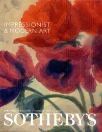Impressionist & Modern Art: Part Two: New York, Thursday, May 11, 2000 (Sotheby's Sale Catalog 7467)
