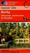 image of Explorer Map 0259: Derby, Uttoxeter, Ashbourne & Cheadle: Folded, Tourist map