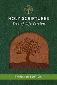 TLV Thinline Bible, Holy Scriptures, Walnut/Brown, Tree Design Duravella