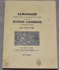 image of Almanach supputé sur le Méridien de Liège par Maître Mathieu Laensbergh, mathématicien, pour l'année 1980