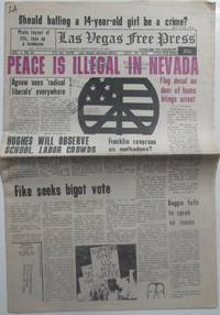 Las Vegas Free Press. Sept 30, 1970. Vol. 1. No. 38 by Various Authors - 1970 - from Mare Booksellers (SKU: 014716)