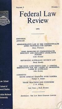 Federal Law Reform: Volume 5. Number1