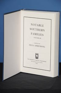 NOTABLE SOUTHERN FAMILIES, Vol. III