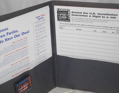 Washington DC: Labor Party, 1997. Folder, 11.5x9.2 inches, with seven sheets of organizing tips, rep...