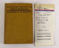 image of La Follette's Autobiography; A Personal Narrative of Political Experiences