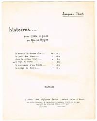 la cage de cristal, HISTOIRES No. VIII: Flute SOLO with Piano accompaniment