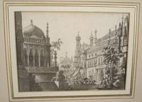 [An architectural design for a theatre backdrop signed Tasca]
