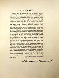 DOCUMENT SIGNED [Foreword from Curtis's THE NORTH AMERICAN INDIAN]