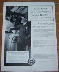 1941 AUTHORIZED CHEVROLET SERVICE LIFE MAGAZINE ADVERTISMENT