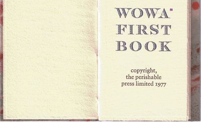 (Mt. Horeb, Wisconsin): Perishable Press, 1977. First edition of the smallest book from the press,