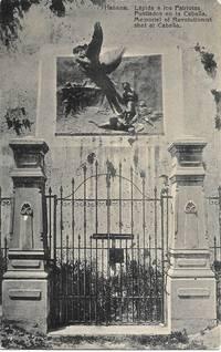 image of Memorial to Revolutionist Shot at Cabaña, Cuba - ca. 1930s Monochrome Postcard