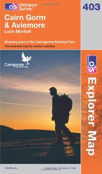 image of Cairn Gorm & Aviemore: Loch Morlich. Showing part of the Cairngorms National Park (OS Explorer Map)