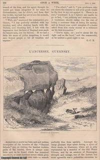 L'Ancresse, Guernsey. A rare original article from the Once A Week periodical, 1864