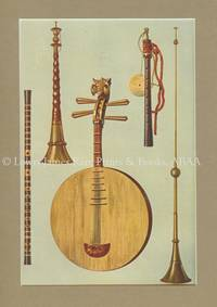 Chinese Ti-Tzu, So-Na, Yueh-Ch\'in, Japanese Hiji-Riki, Chinese La-Pa. Original Chromolithograph.   Musical Instruments; Historic, Rare and Unique