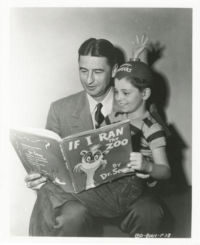 Culver City, CA: Columbia Pictures, 1952. Vintage publicity photograph of Dr. Seuss (Theodor Seuss G...